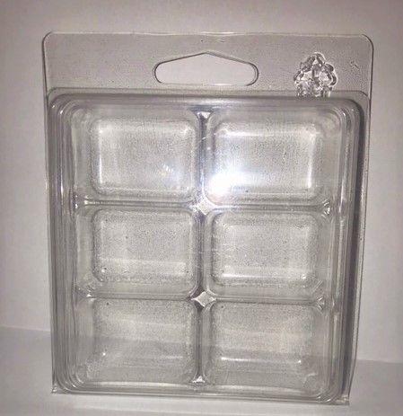 5  x Rectangular 6 Cavity Wax Melt/Tart Clamshell