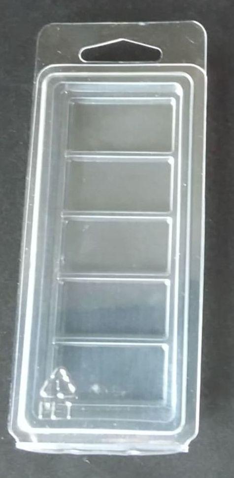 <!--002-->10  x Snap Bar 5 Cavity Wax Melt/Tart Clamshell with Hang Hole