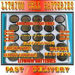 Cr1216 1216 Lithium Coin Cell Button Cell Batteries 3V 40mAh x 5