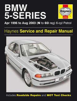 Bmw 5 Series Haynes Manual Repair Manual Workshop Manual Service Manual 1996-2003  E39