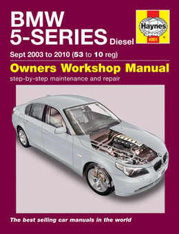Bmw 5 Series Haynes Manual Repair Manual Workshop Manual Service Manual 2003-2010 E60 E61