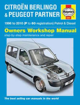 Citroen Berlingo Haynes Manual Repair Manual Workshop Manual Service Manual  1996-2010