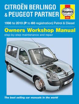 Peugeot Partner Haynes Manual Repair Manual Workshop Manual Service Manual 1996-2010