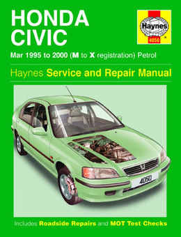Honda Civic Haynes Manual Repair Manual Workshop Manual Service Manual 1995-2000