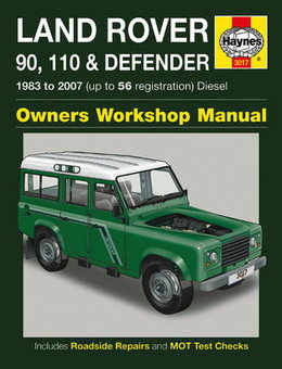 Land Rover 90 110 Defender Haynes Manual Repair Manual Workshop Manual Service Manual  1983-2007