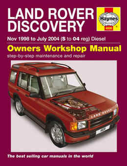 Land Rover Discovery Haynes Manual Repair Manual Workshop Manual Service Manual 1998-2004