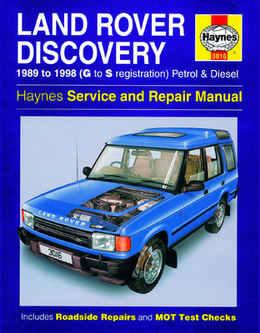 Land Rover Discovery Haynes Manual Repair Manual Workshop Manual Service Manual 1989-1998