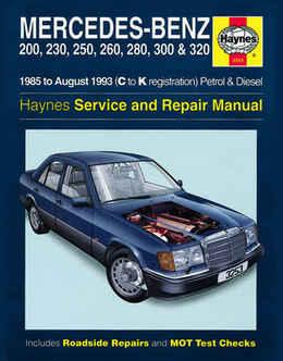 Mercedes Benz 200 230 Haynes Manual Repair Manual Workshop Manual Service Manual