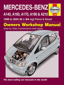 Mercedes Benz A Class Haynes Manual Repair Manual Workshop Manual Service Manual 1998-2004