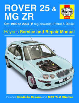 MG Rover MG ZR MGZR Haynes Manual Repair Manual Workshop Manual Service Manual