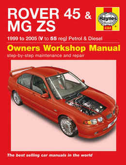 MG Rover MG ZS MGZS Haynes Manual Repair Manual Workshop Manual Service Manual