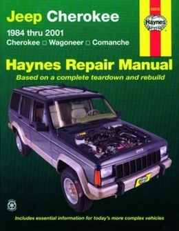 Jeep Cherokee Haynes Manual Repair Manual Workshop Manual Service Manual 1984-2001
