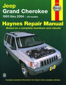 Jeep Grand Cherokee Haynes Manual Repair Manual Workshop Manual Service Manual 1993-2004