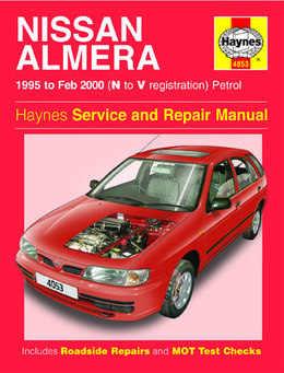 Nissan Almera Haynes Manual Repair Manual Workshop Manual Service Manual 1995-2000