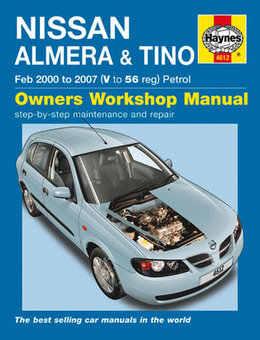 Nissan Almera Tino Haynes Manual Repair Manual Workshop Manual Service Manual 2000-2007