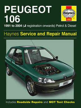 Peugeot 106 Haynes Manual Repair Manual Workshop Manual Service Manual  1991-2004