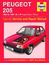 Peugeot 205 Haynes Manual Repair Manual Workshop Manual Service Manual