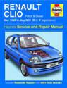 Renault Clio Haynes Manual Repair Manual Workshop Manual Service Manual 1998-2001