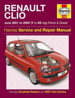 Renault Clio Haynes Manual Repair Manual Workshop Manual Service Manual  2001-2005