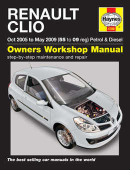Renault Clio Haynes Manual Repair Manual Workshop Manual Service Manual  2005-2009