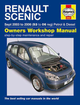 Renault Scenic Haynes Manual Repair Manual Workshop Manual Service Manual  2003-2006