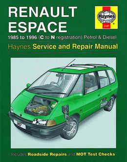 renault espace haynes manual repair manual workshop. Black Bedroom Furniture Sets. Home Design Ideas