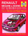 Renault Megane Scenic Haynes Manual Repair Manual Workshop Manual Service Manual 1999-2002