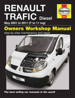 Renault Trafic Haynes Manual Repair Manual Workshop Manual Service Manual 2001-2010