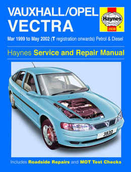 Vauxhall Vectra Haynes Manual Repair Manual Workshop Manual Service Manual  1999-2002