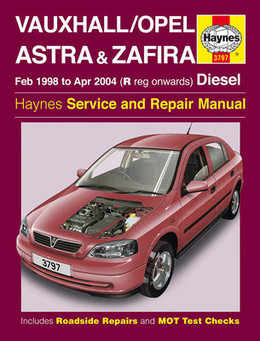 Vauxhall Zafira Haynes Manual Repair Manual Workshop Manual Service Manual 1998-2004