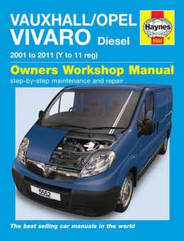 Vauxhall Vivaro Haynes Manual Repair Manual Workshop Manual Service Manual  2001-2010