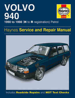 Volvo 940 Haynes Manual Repair Manual Workshop Manual Service Manual   1990-1998
