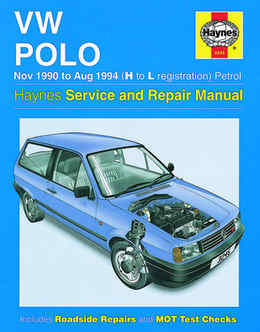 Volkswagen Polo Haynes Manual Repair Manual Workshop Manual Service Manual 1990-1994