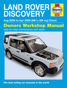 Land Rover Discovery Haynes Manual Repair Manual Workshop Manual Service Manual 2004-2009