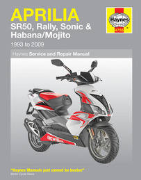 Aprilia SR50 Sonic Rally Haynes Manual Repair Manual Workshop Manual 1993-2009
