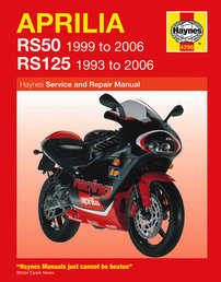Aprilia RS50 RS125 Haynes Manual Repair Manual Workshop Manual 1993-2006