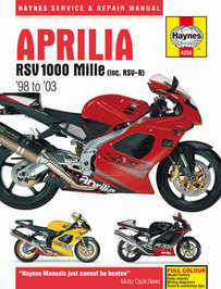 Aprilia RSV 1000 Mille RSV-R Haynes Manual Repair Manual Workshop Manual 1998-2003