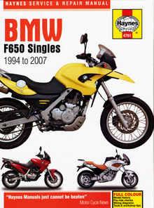 Bmw F650 CS FL GS Haynes Manual Repair Manual Workshop Manual 2000-2007