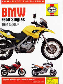 Bmw F650 Funduro Dakar Strada Haynes Manual Repair Manual Workshop Manual 1994-2007