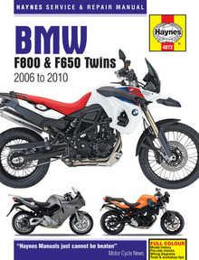 Bmw F650 GS F650GS Haynes Manual Repair Manual Workshop Manual 2008-2010