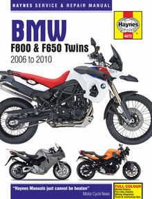 Bmw F800 F800S F800ST Haynes Manual Repair Manual Workshop Manual 2006-2010