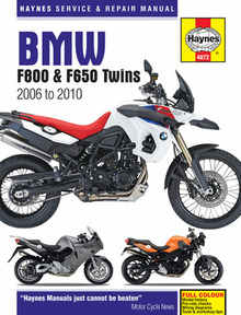 Bmw F800 F800GR F800R Haynes Manual Repair Manual Workshop Manual 2006-2010
