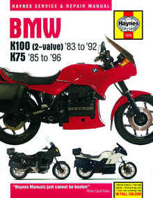 Bmw K75 Haynes Manual Repair Manual Workshop Manual 1985-1996