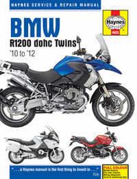 Bmw R1200 GS RT Haynes Manual Repair Manual Workshop Manual  2010-2012
