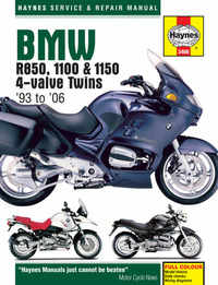 Bmw R1100 R1150 GS R RT Haynes Manual Repair Manual Workshop Manual  1993-2006