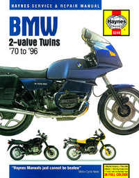 Bmw R65 R75 R80 Haynes Manual Repair Manual Workshop Manual  1969-1994