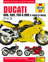 Ducati 750 900 Haynes Manual Repair Manual Workshop Manual  1991-2002