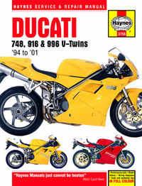 Ducati 748 996 Biposto Haynes Manual Repair Manual Workshop Manual  1995-2001