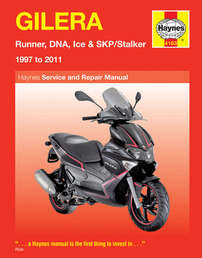 Gilera Ice Skp Stalker Haynes Manual Repair Manual Workshop Manual 1997-2009