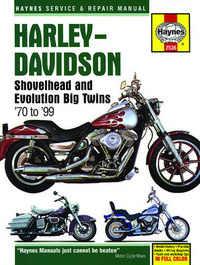 Harley Davidson Evolution Shovelhead Haynes Manual Repair Manual Workshop Manual 1970-1999